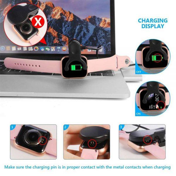 Bluetooth Smart Watch Fitness Tracker Bracelet Heart Rate Monitor Men Women (14)