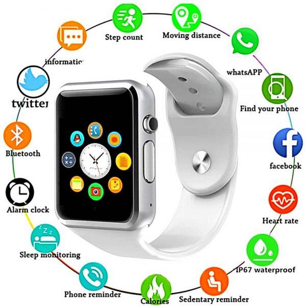 Bluetooth Smart Watch Fitness Tracker Bracelet Heart Rate Monitor Men Women (17)