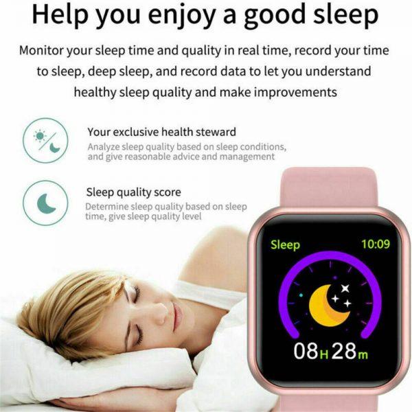 Bluetooth Smart Watch Fitness Tracker Bracelet Heart Rate Monitor Men Women (18)