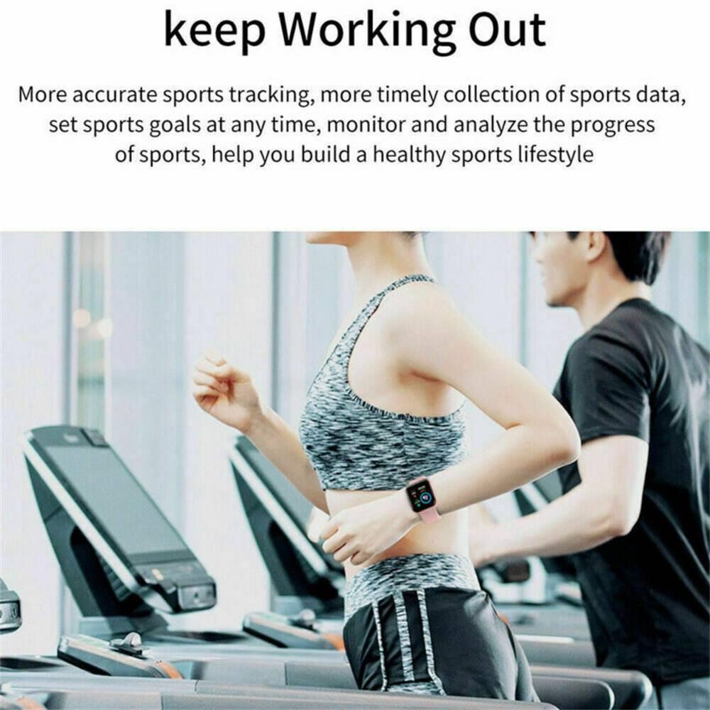 Bluetooth Smart Watch Fitness Tracker Bracelet Heart Rate Monitor Men Women (4)