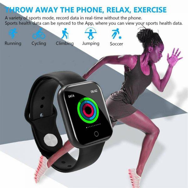 Bluetooth Smart Watch Fitness Tracker Bracelet Heart Rate Monitor Men Women (9)