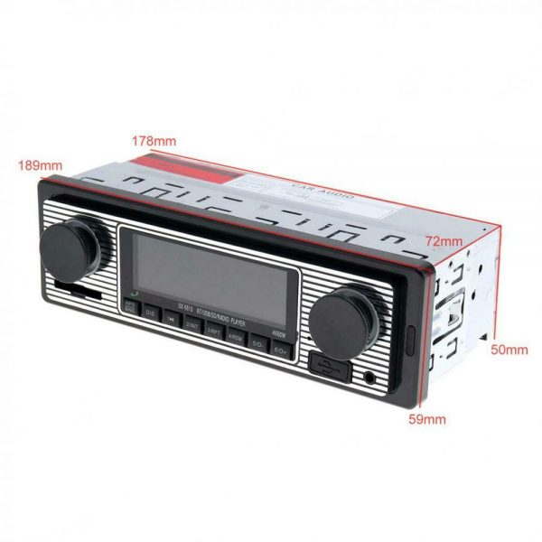 Bluetooth Vintage Car Radio Music Mp3 Player Stereo Audio 1din Usb Fm Aux In Sd (6)