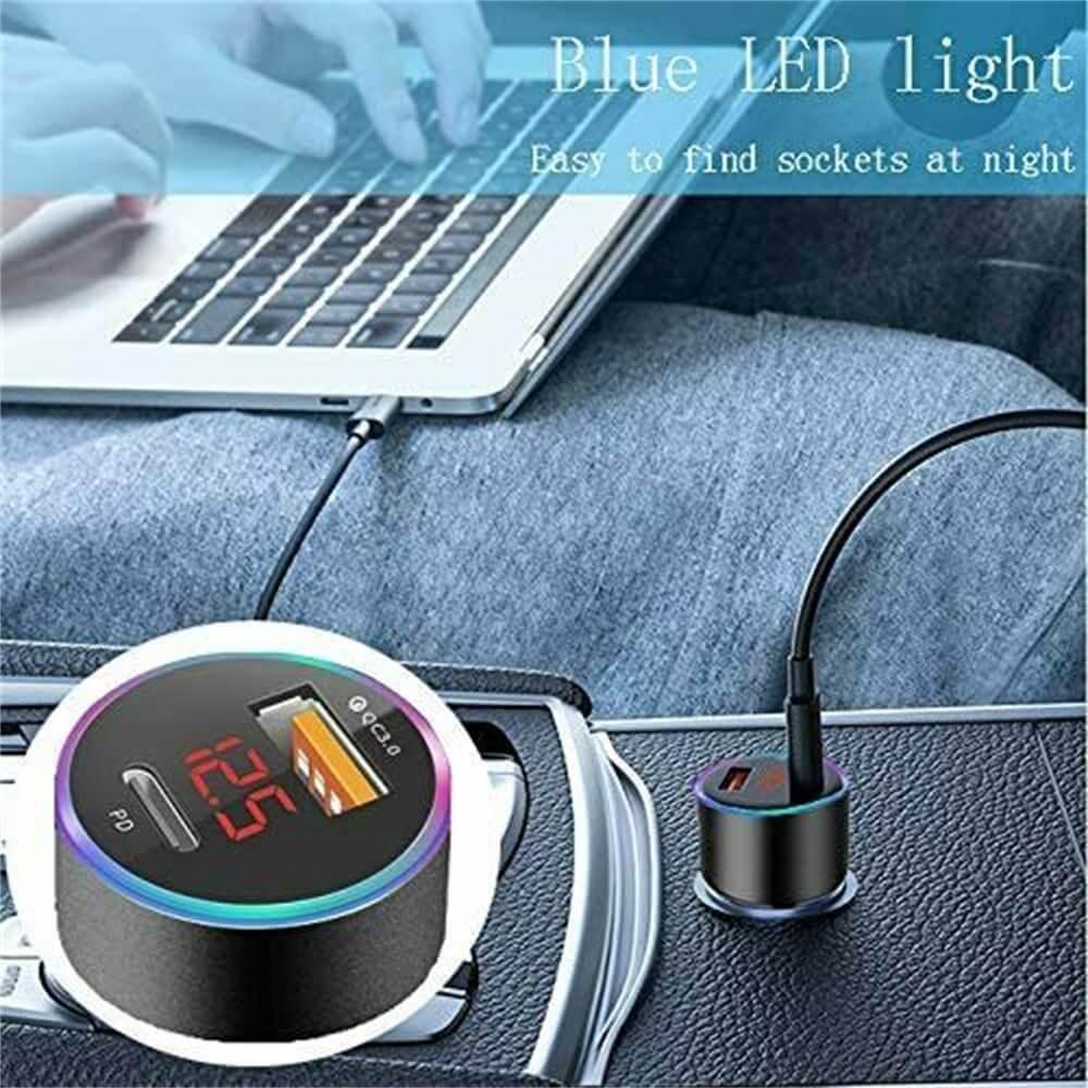 Charger Fast Charging Lighter Adapter Usb Type C Port Mobile Phone Cigarette Lighter Socket Adapter (2)