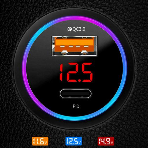 Charger Fast Charging Lighter Adapter Usb Type C Port Mobile Phone Cigarette Lighter Socket Adapter (5)