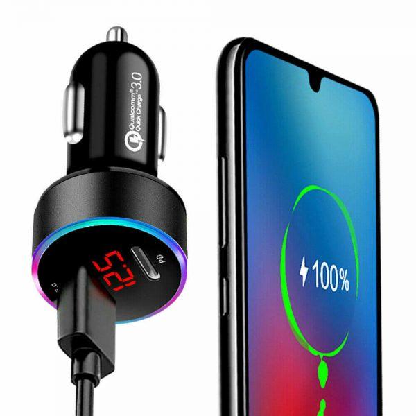 Charger Fast Charging Lighter Adapter Usb Type C Port Mobile Phone Cigarette Lighter Socket Adapter (6)