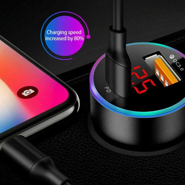 Charger Fast Charging Lighter Adapter Usb Type C Port Mobile Phone Cigarette Lighter Socket Adapter (7)