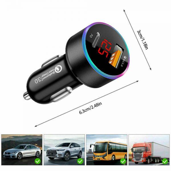 Charger Fast Charging Lighter Adapter Usb Type C Port Mobile Phone Cigarette Lighter Socket Adapter (8)