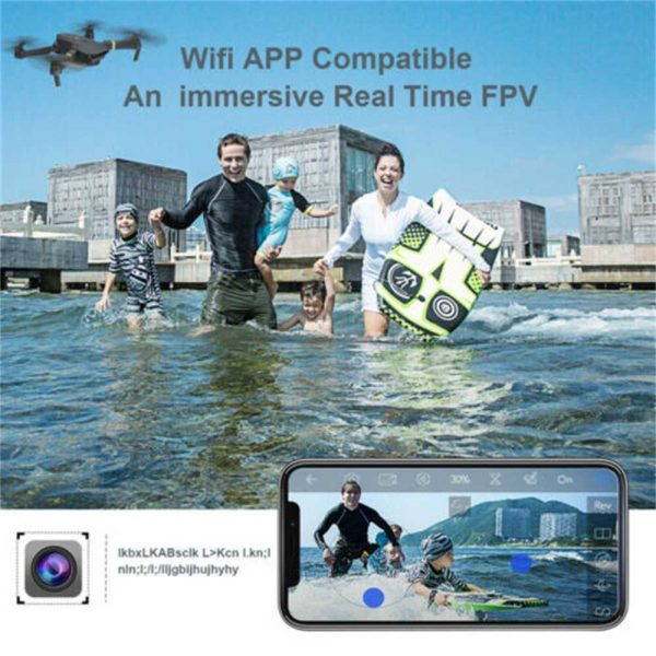 Drone X Pro Wifi Fpv 4k Hd Wide Angle Camera Foldable Selfie Rc Quadcopter Gift (12)
