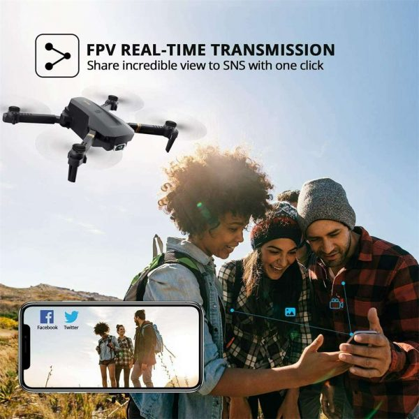 Drone X Pro Wifi Fpv 4k Hd Wide Angle Camera Foldable Selfie Rc Quadcopter Gift (17)