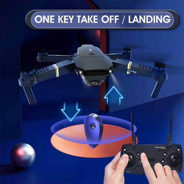 Drone X Pro Wifi Fpv 4k Hd Wide Angle Camera Foldable Selfie Rc Quadcopter Gift (2)