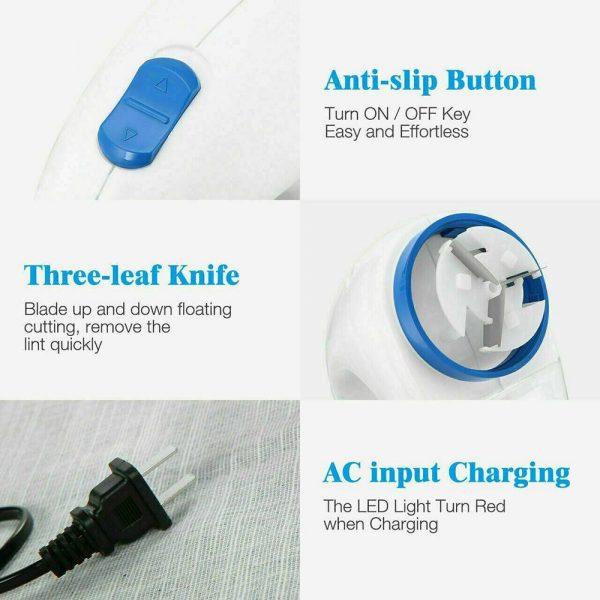 Electric Clothes Lint Pill Fluff Remover Fabrics Jumper Sweater Fuzz Shaver (11)