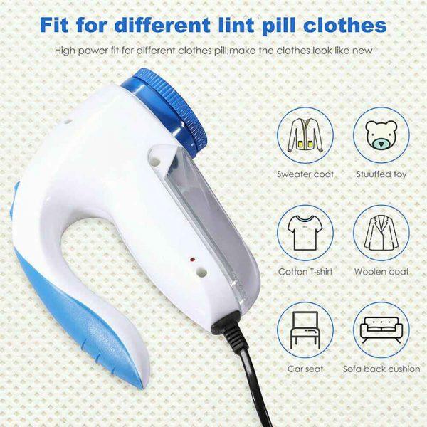 Electric Clothes Lint Pill Fluff Remover Fabrics Jumper Sweater Fuzz Shaver (17)