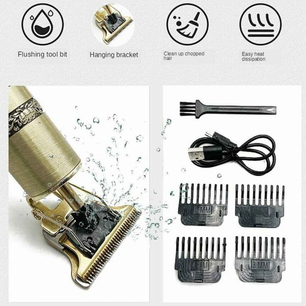 Electric Cordless T Outliner Hair Clipper Trimmer Shaver (8)