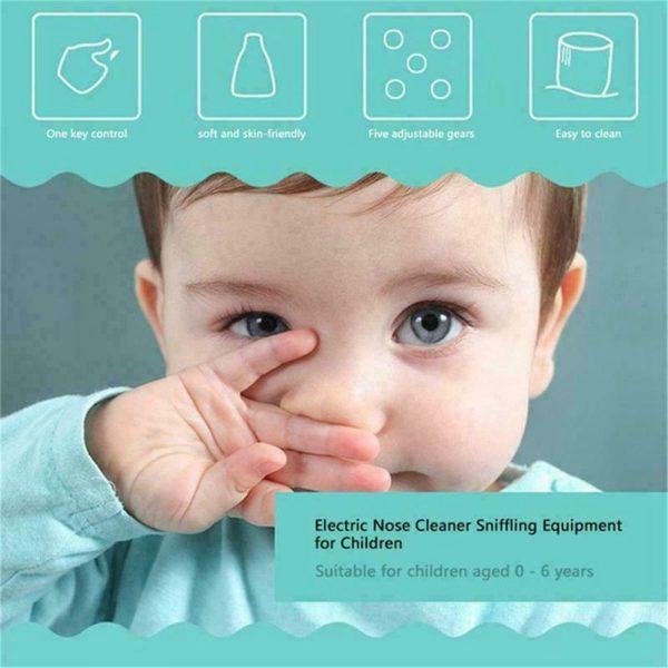 Electric Kids Baby Nasal Aspirator Silicone Vacuum Sucker Nose Mucus Cleaner (12)