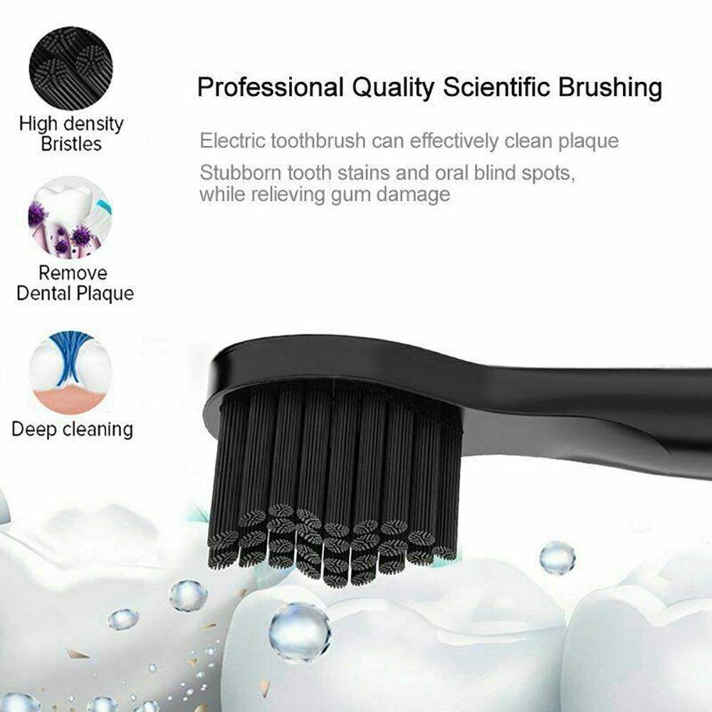 Electric Toothbrush Sonic Rechargeable 5 Modes Kids Adults Brush 4 Heads Usb New (10)