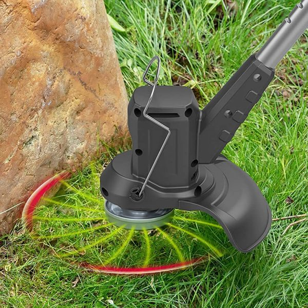 Electric Wireless Small Trimmer Weeder Rechargeable Black Multi Blade Home Garden Weeder (10)