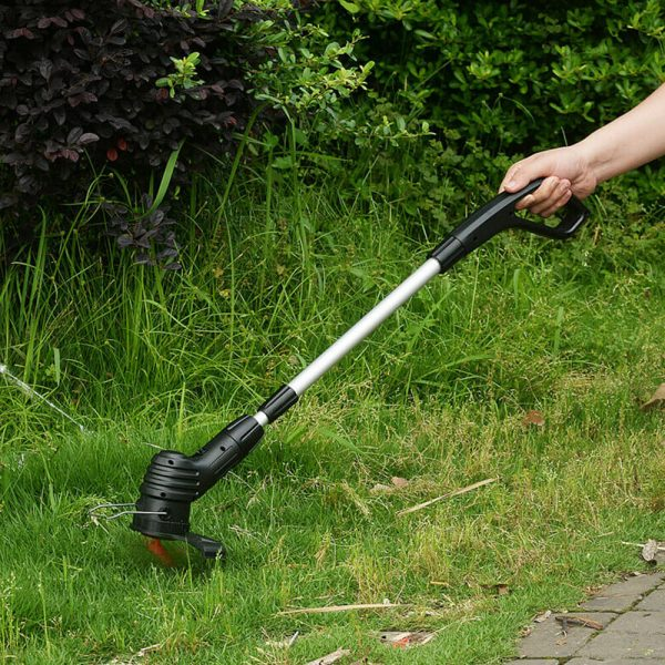 Electric Wireless Small Trimmer Weeder Rechargeable Black Multi Blade Home Garden Weeder (5)