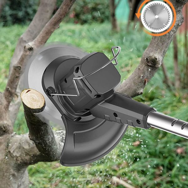 Electric Wireless Small Trimmer Weeder Rechargeable Black Multi Blade Home Garden Weeder (7)
