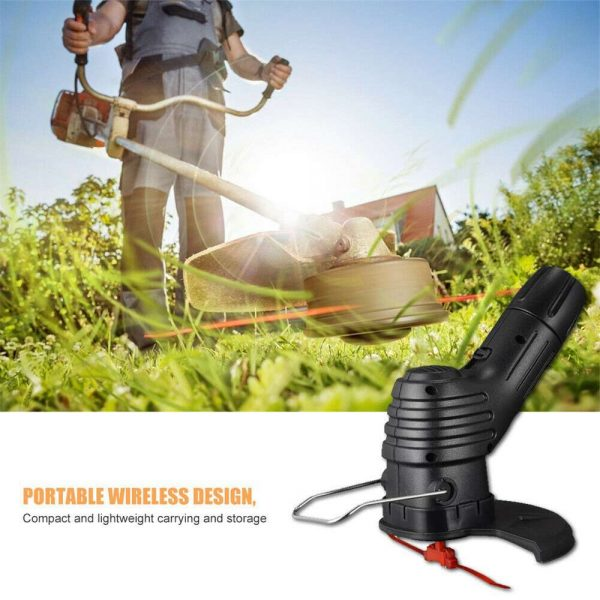 Electric Wireless Small Trimmer Weeder Rechargeable Black Multi Blade Home Garden Weeder (8)
