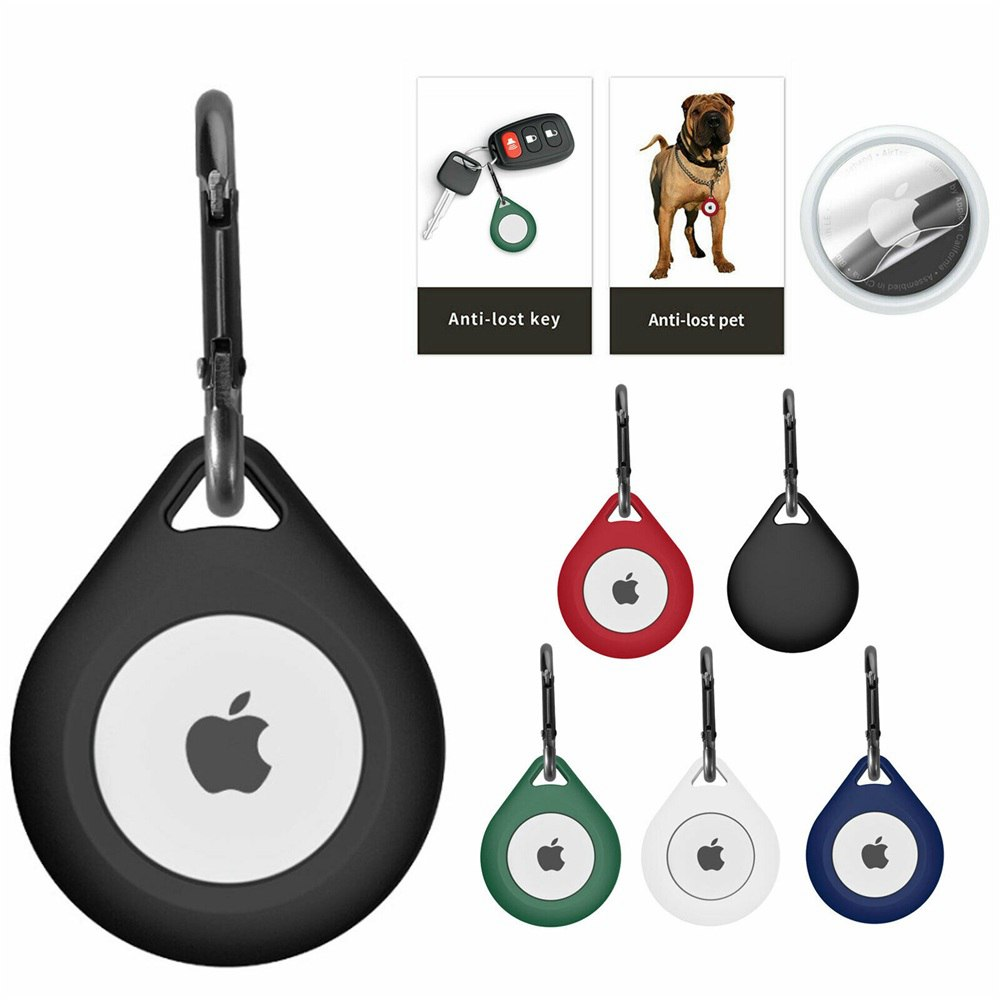 For Apple Airtag Soft Silicone Washable Case Cover Pet Collar Keychain Air Tag (12)