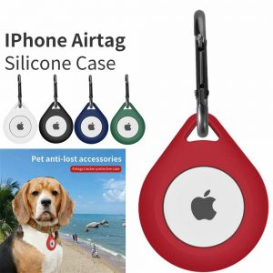 For Apple Airtag Soft Silicone Washable Case Cover Pet Collar Keychain Air Tag (13)