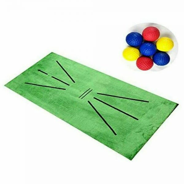 Golf Training Mat Swing Detection Batting Practice Training Aid For Beginner (4)