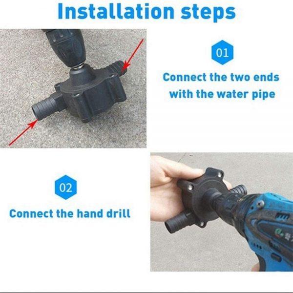 Hand Electric Drill Pump Self Priming Diesel Oil Fluid Water Transfer Pumps (2)