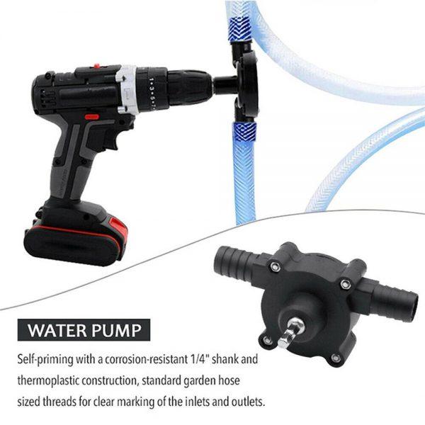 Hand Electric Drill Pump Self Priming Diesel Oil Fluid Water Transfer Pumps (4)