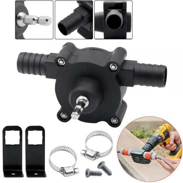 Hand Electric Drill Pump Self Priming Diesel Oil Fluid Water Transfer Pumps (9)