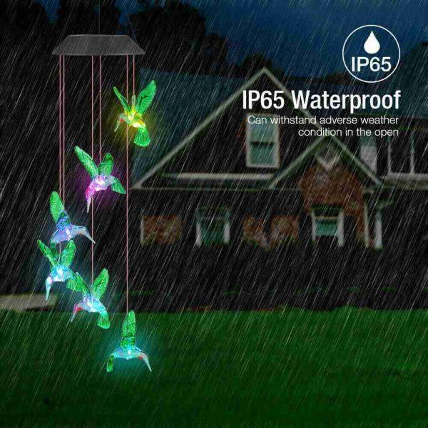 Hanging Hummingbird Lights Led Outdoor Rgb Wind Chimes Solar Powered Lamp Garden (16)