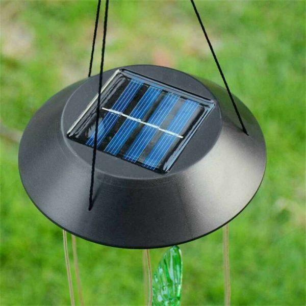 Hanging Hummingbird Lights Led Outdoor Rgb Wind Chimes Solar Powered Lamp Garden (3)