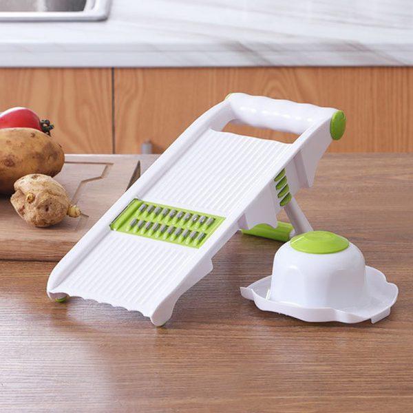 Kitchen Food Fruit Vegetable Cutter Chopper Tools 7 In 1 Mandolin Slicer (10)