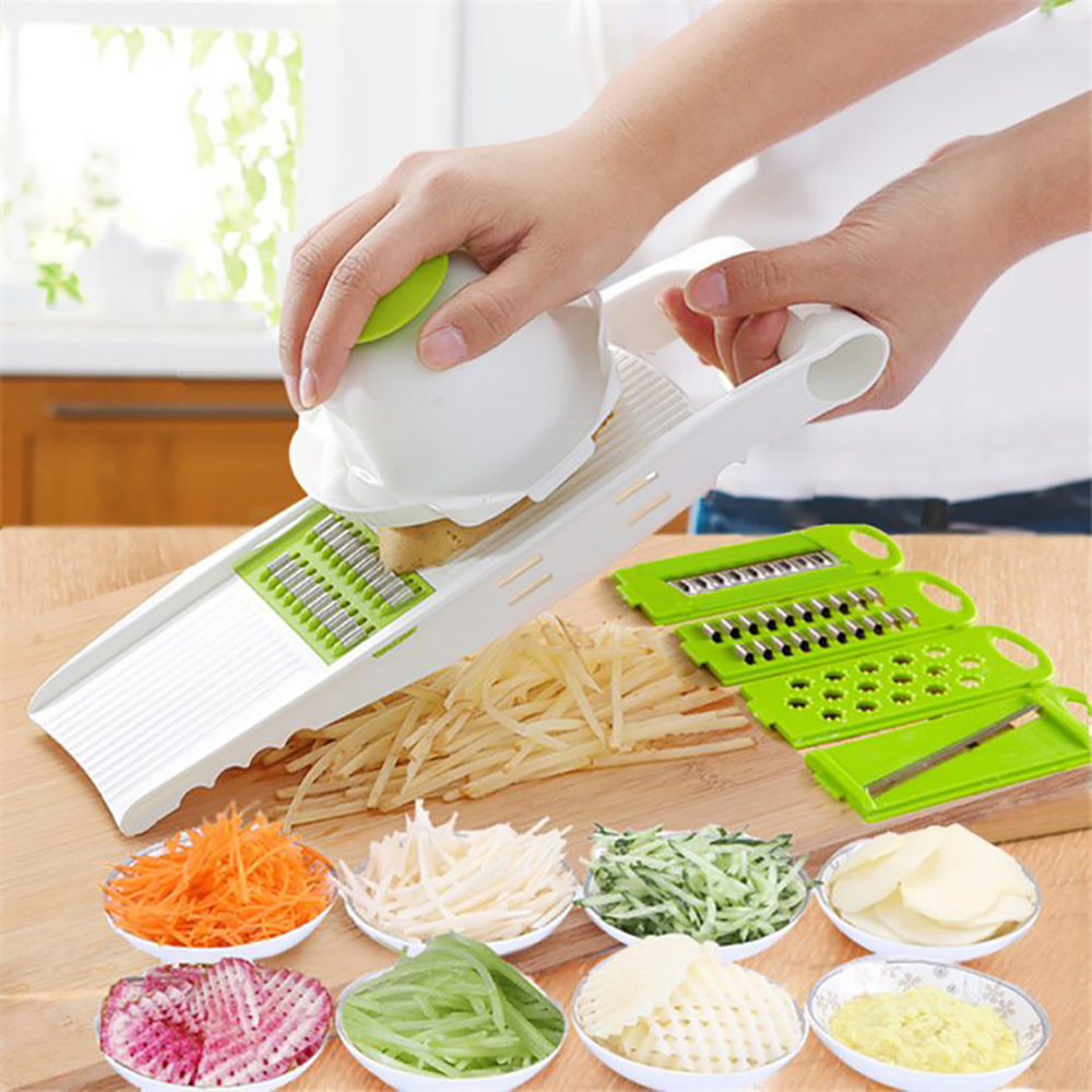 Kitchen Food Fruit Vegetable Cutter Chopper Tools 7 In 1 Mandolin Slicer (12)