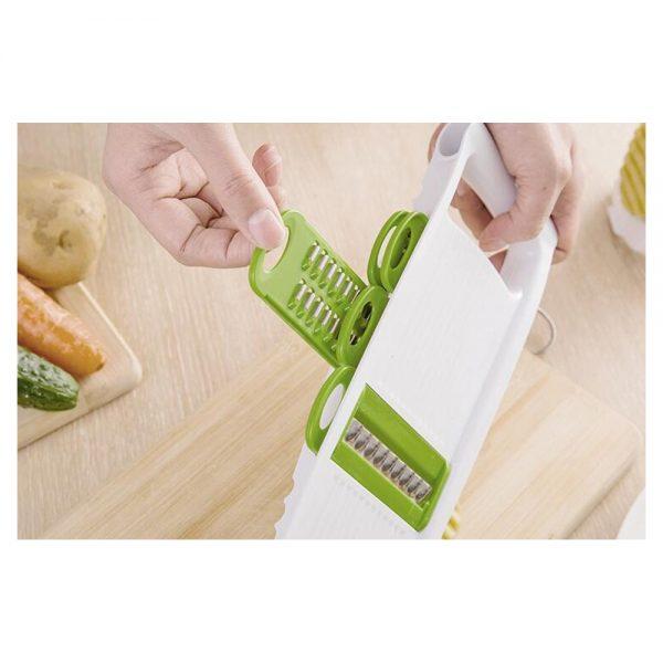 Kitchen Food Fruit Vegetable Cutter Chopper Tools 7 In 1 Mandolin Slicer (3)