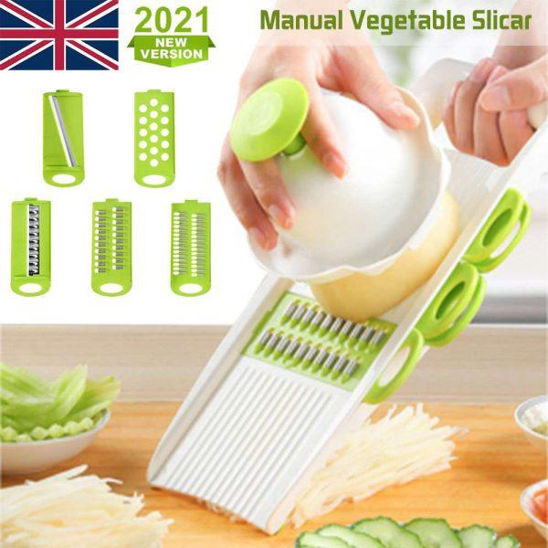 Kitchen Food Fruit Vegetable Cutter Chopper Tools 7 In 1 Mandolin Slicer (5)