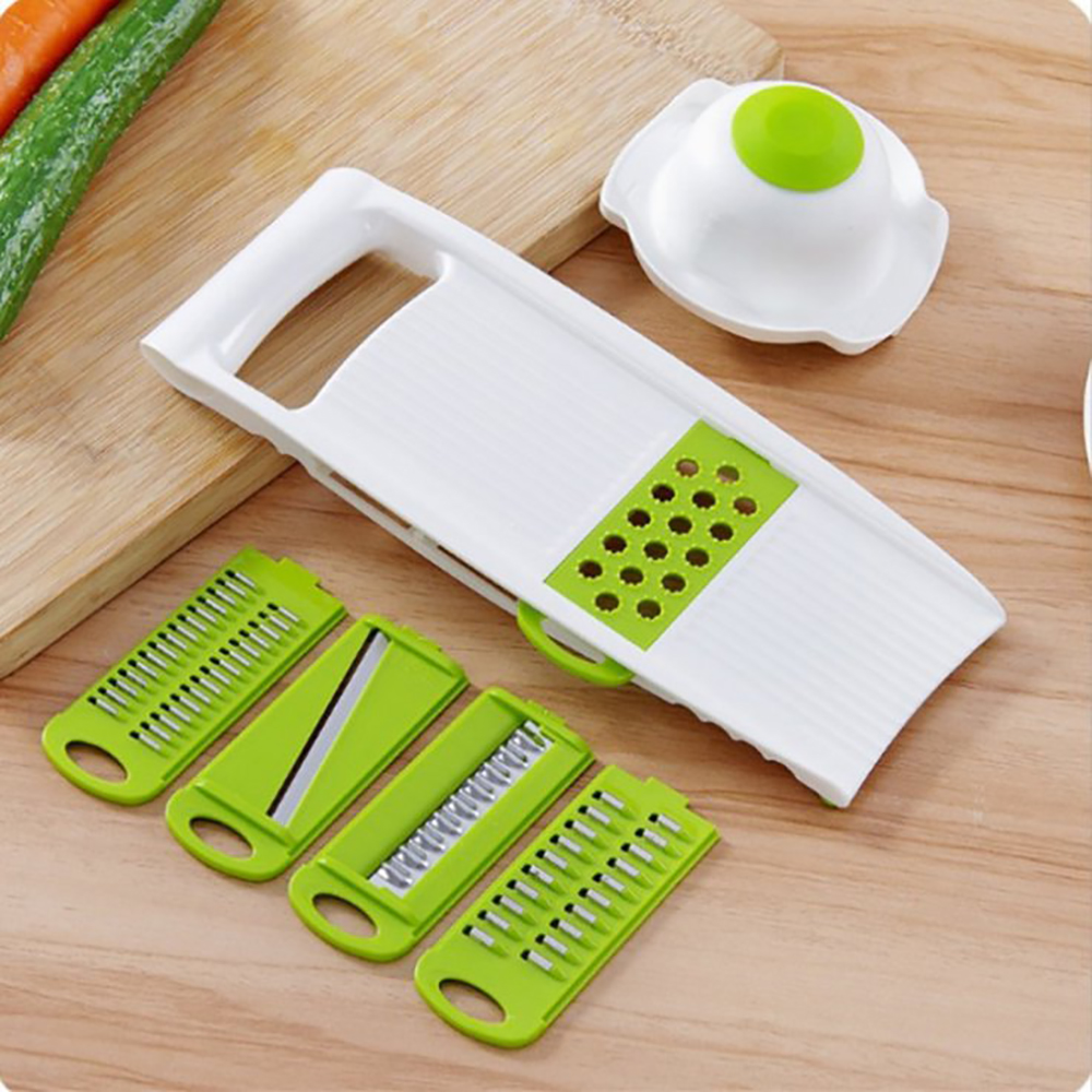 Kitchen Food Fruit Vegetable Cutter Chopper Tools 7 In 1 Mandolin Slicer (8)