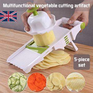 Kitchen Food Fruit Vegetable Cutter Chopper Tools 7 In 1 Mandolin Slicer (9)