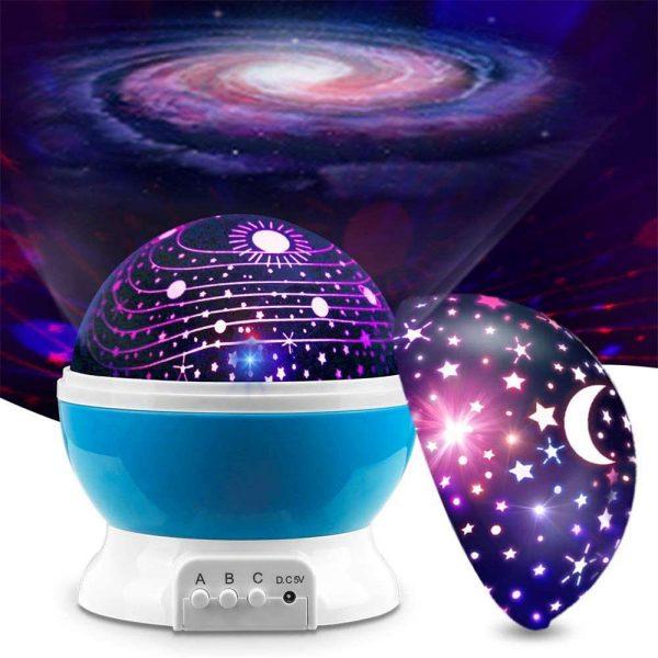 Led Night Lights Rotating Projector Starry Star Sky Light Baby Kids Bedside Lamp (17)