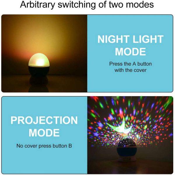 Led Night Lights Rotating Projector Starry Star Sky Light Baby Kids Bedside Lamp (19)