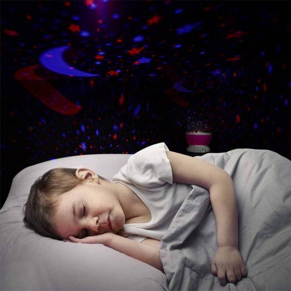 Led Night Lights Rotating Projector Starry Star Sky Light Baby Kids Bedside Lamp (20)