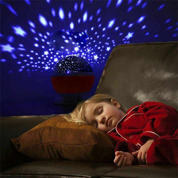 Led Night Lights Rotating Projector Starry Star Sky Light Baby Kids Bedside Lamp (3)
