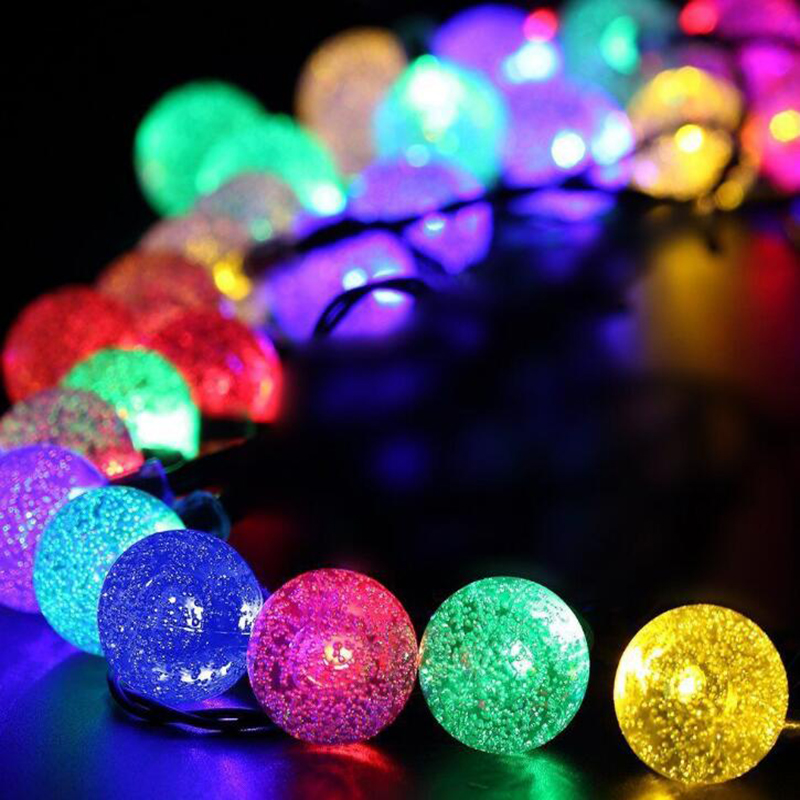Led Solar Lights 5060 Leds Bubble Ball Light With Eight Functions Heighten The Atmosphere (1)