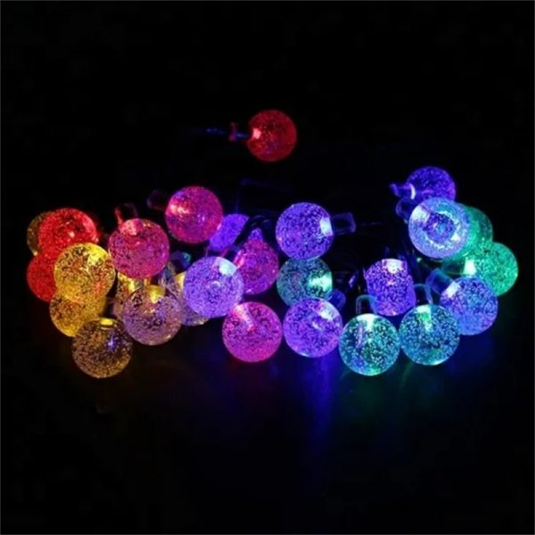 Led Solar String Lights 5060 Leds Bubble Ball Light With Eight Functions Heighten The Atmosphere (1)