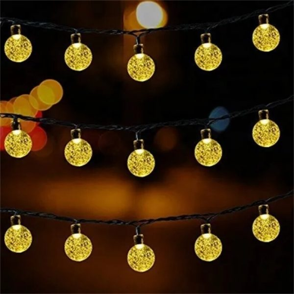 Led Solar String Lights 5060 Leds Bubble Ball Light With Eight Functions Heighten The Atmosphere (10)