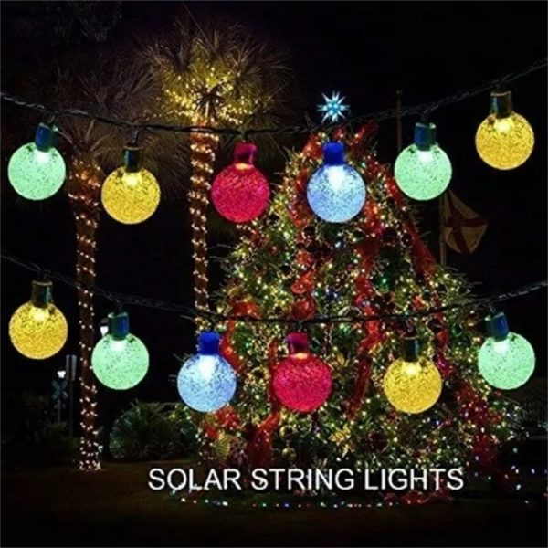 Led Solar String Lights 5060 Leds Bubble Ball Light With Eight Functions Heighten The Atmosphere (2)