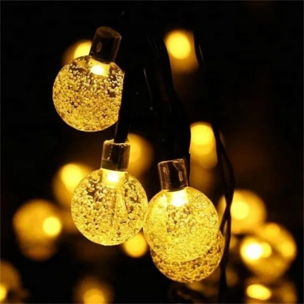 Led Solar String Lights 5060 Leds Bubble Ball Light With Eight Functions Heighten The Atmosphere (3)