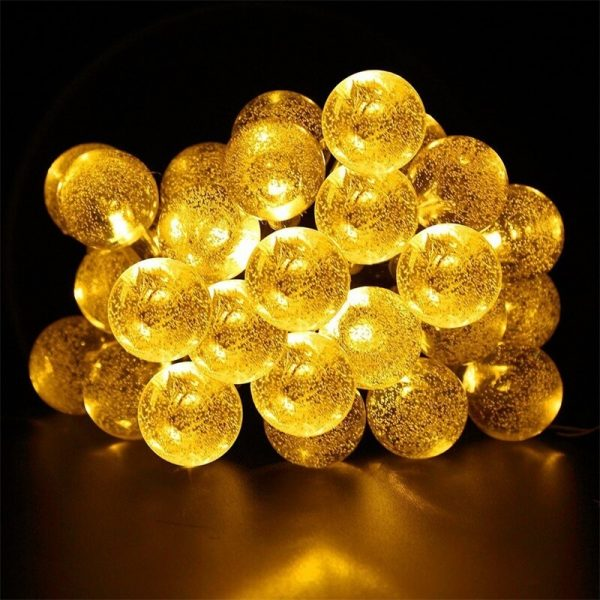 Led Solar String Lights 5060 Leds Bubble Ball Light With Eight Functions Heighten The Atmosphere (5)