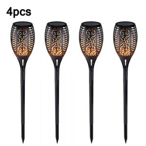 Led Solar Torch Dance Flickering Flame Light Garden Yard Lawn Waterproof Lamp (12)