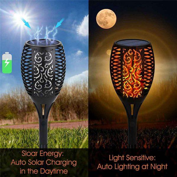 Led Solar Torch Dance Flickering Flame Light Garden Yard Lawn Waterproof Lamp (14)