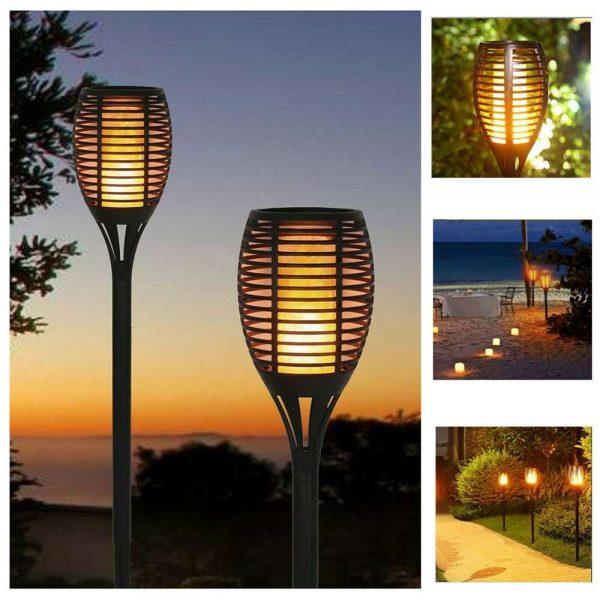 Led Solar Torch Dance Flickering Flame Light Garden Yard Lawn Waterproof Lamp (17)